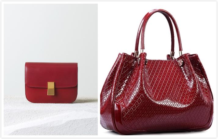 celine box red handbag valentineinparis