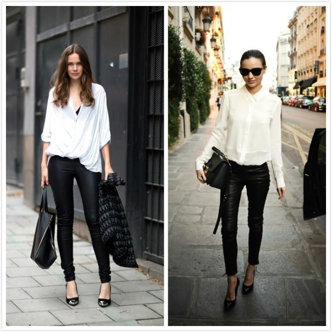 miranda leather chemise